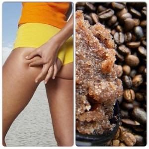 Home-made coffee anti-cellulite body scrub.